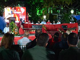 Jefe de Estado venezolano, se encontraba atento del evento