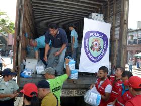 La Policía de Caracas junto a la Supervisión del Indepabis realizaron el operativo.