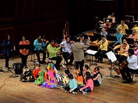 La orquesta presentó cuentos del escritor venezolano Aquiles Nazoa y de  Eduardo Manzanilla