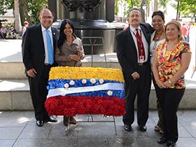 Con la bendición del padre Numa Molina, en la iglesia San Francisco, dio inicio a los actos conmemorativos del aniversario de la Superintendencia Municipal.