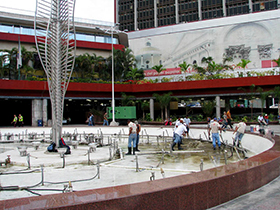 Las labores se ejecutaron en la Plaza Diego Ibarra, parroquia Santa Teresa