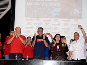 Jorge Rodríguez, Ernesto Villegas y Antonio (Potro) Álvarez, se reunieron con las Unidades de Batalla Comandante Hugo Chávez, Partido Socialista Unido de Venezuela y los partidos aliados del Gran Polo Patriótico.