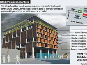 El Edificio patrimonial, ubicado en el Casco Central de la Ciudad, le dará vida al Centro Juvenil para la Cultura Urbana.