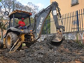 Se ejecutaron trabajos de asfaltado, bacheo, recolección de desechos sólidos y vegetales