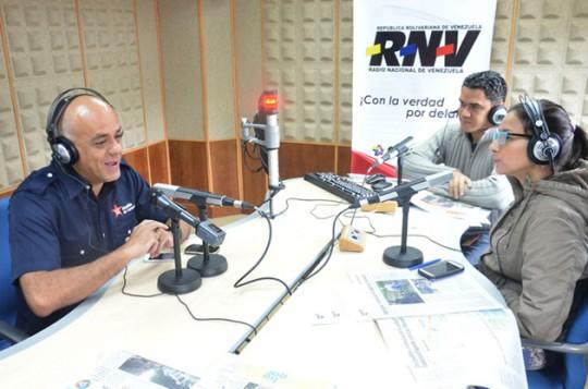 Jorge Rodríguez asistió al programa radial La Patria Nueva de Radio Nacional de Venezuela