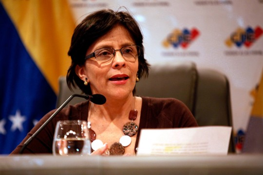 Rueda de prensa de la Vicepresidenta del Concejo Nacional Electoral