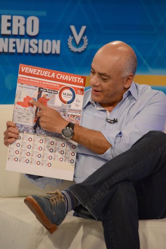Jorge Rodríguez en Noticiero Venevision