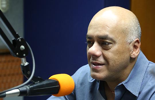 Jorge Rodríguez en Unión Radio. Foto de archivo