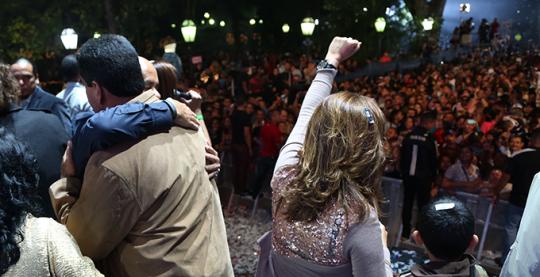 Fin e inicio de año en la Plaza Bolívar de Caracas reunió al pueblo venezolano