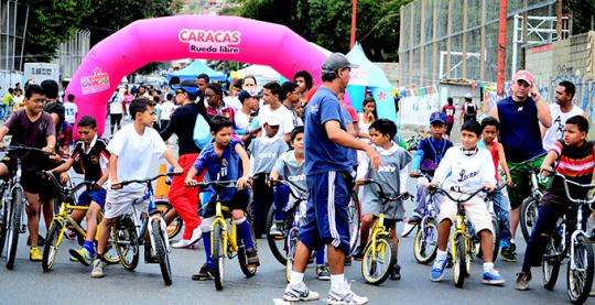 Caracas rueda libre avenida cuartel 1