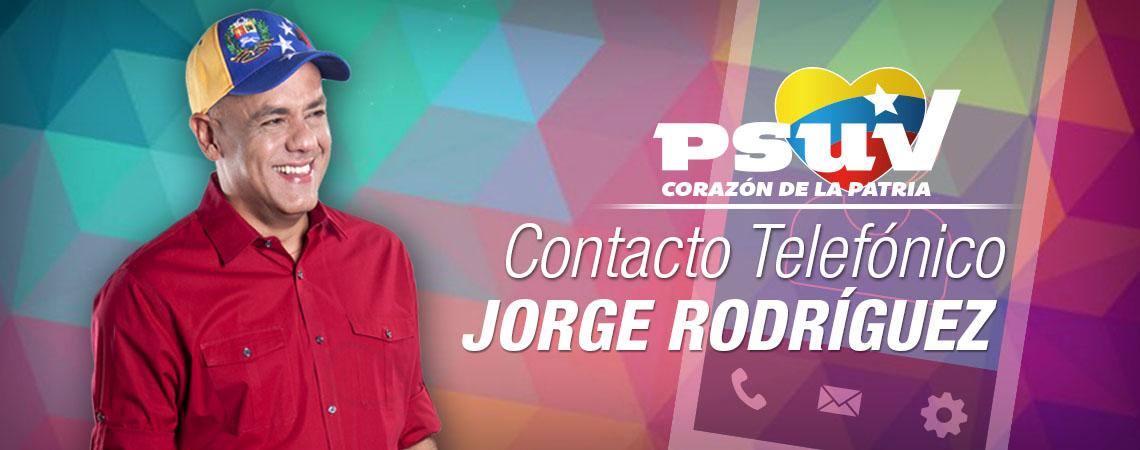 CONTACTO TELEFONICO JORGE RODRIGUEZ