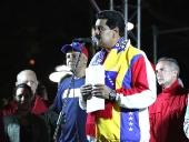 El pueblo patriótico festejó nueva victoria en la plaza Bolívar. 8 de diciembre de 2013