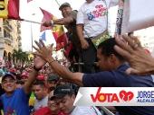 Inicio de campaña electoral de Jorge Rodríguez y Ernesto Villegas. 16 de noviembre de 2013