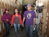 Inspección a empresa importadora en zona industrial de San Martín. 22 de noviembre de 2013