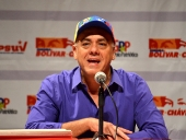 Jorge Rodríguez en rueda de prensa sobre resultados elecciones 8D. 14 de diciembre de 2013