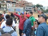 Jorge Rodríguez inspecciona Polideportivo de la parroquia El Valle. 20 de noviembre de 2013