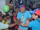 Jorge Rodríguez recorrió Los Eucaliptos. 24 de noviembre de 2013