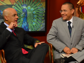"""Jorge Rodríguez y Ernesto Villegas en el programa """"José Vicente hoy"""". 24 de noviembre de 2013"""
