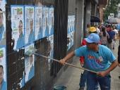 Recolección de propaganda electoral. 11 de diciembre de 2013