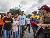 Transportistas de Caracas apoyan a los candidatos de la patria. 23 de noviembre de 2013