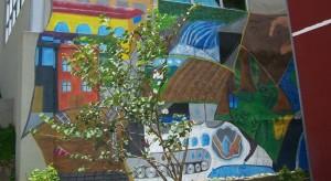 """Murales destacan temas alusivos a la escasez y mal uso del agua bajo el lema: """"Nuestra Escuela cuida el ambiente"""""""