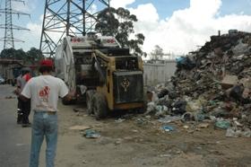 Recolección de basura en Caracas