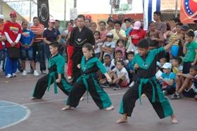 Presentación de Taekwondo en la categoría juvenil por parte del IMDERE