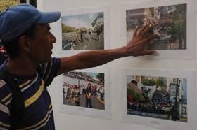 Exposición fotogrñafica en PLaza Bolívar