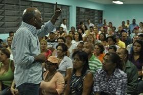 Patrulleros en el Liceo Manuel Palacios Fajardo, parroquia 23 de Enero