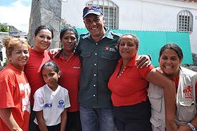 Visita en la parroquia El Junquito