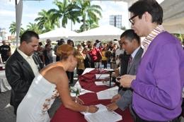 Matrimonio Colectivo en Plaza Venezuela