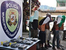 La Policía Municipal de Caracas incautó 10 kg de presunta cocaína en el Mercado de Coche