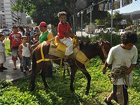 La comunidad de El 23 de Enero festejó el cumpleaños del Santo Niño de Atoche en el Parque Gustavo Medina