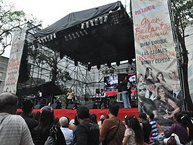 Cientos de personas disfrutaron lo mejor del merengue en un concierto abierto a todo público