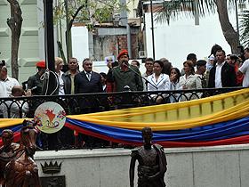 La actividad contó con la presencia del presidente Hugo Chávez