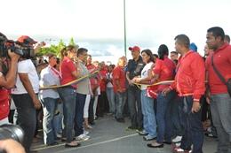 La inauguración dio inicio en la Plaza Las Tres Gracias y concluyó en Los Próceres
