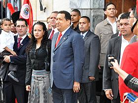 El acto fue presidido por el presidente de la República Bolivariana de Venezuela, Hugo Chávez