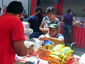 En la actividad se expendieron productos de la cesta básica, verduras, hortalizas, entre otros