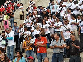 El pueblo caraqueño se volcó en las calles para manifestar su apoyo al Primer Mandatario Naciona