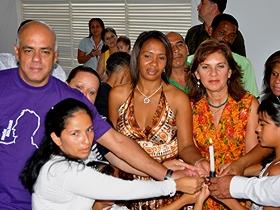 Con este bautizo colectivo, fue inaugurada la capilla de Ciudad Caribia