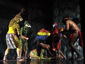 La obra recrea una leyenda indígena del Delta del Orinoco
