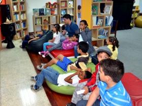"""En esta oportunidad, el club de los niños lectores """"Los Comelibros"""", fueron los encargados de amenizar la actividad infantil"""