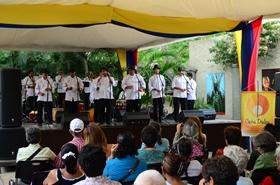 La agrupación musical caraqueña alegró y puso a bailar a los presentes