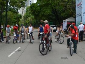 Las personas que asistieron al segundo circuito red de ciclovías se mostraron súper encantadas y alegres