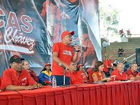 La actividad contó con la asistencia de más de 2 mil 500 militantes del Psuv en Caracas