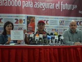 """Rodríguez explicó el Plan """"1 x 10"""". Se trata de  """"un mecanismo organizativo en el que las personas podrán registrarse en la página del  Partido Socialista Unido de Venezuela."""