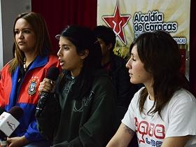 Rueda de prensa ofrecida por los joveens estudiante en la sede del Imjc.
