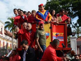 El pueblo acompañó al Candidato de la Patria