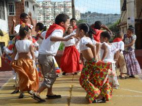 En el área cultural contaron con la participaron de niños y niñas del Lídice