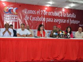 Rueda de prensa Comando Nacional Campaña Carabobo